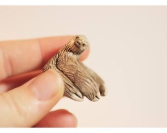 Two Toed Sloth Ring - Made To Order, Metal Free Finger Cuff