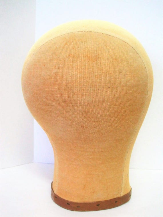 Hat Wig Stand - Signed Millinery Head -  Hello Dolly Signed  - 60's Head Hat Display