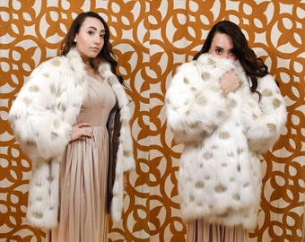 Couture Helene for Russel Taylor 1960s Faux Fur Coat