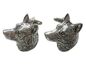 Wolf Head Cufflinks