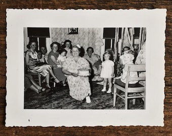 Original Vintage Photograph Birthday Party