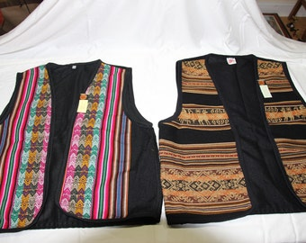 Inca Man's vest Inca designs Manta Peru