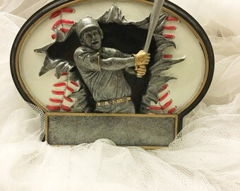 Vintage baseball trophy, baseball player trophy,  vintage baseball memorabilia
