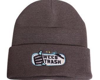 Gray Weeb Trash  Long Beanie