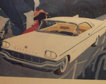 1957 CHRYSLER SARATOGA Antique Automobiles Vintage Cars Original Vintage Ads Additional Ads Ship FREE Ready To Frame