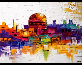 Jerusalem - Canvas Print - Stretched, Embellished & Ready-to-Hang - Art by Osnat