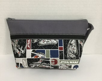 Star Wars Cosmetic Bag - Star Wars Pencil Case - Zippered Pouch - Pencil Case - NHLToiletry Bag - NFL Toiletry Bag - Makeup Bag - Travel Bag