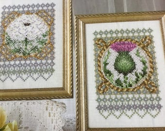 THISTLE & QUEEN ANNE Lace - Cross Stitch Pattern Only