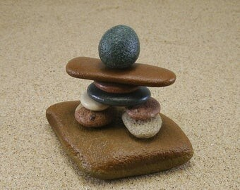 Inukshuk Style Lake Michigan South Haven and Saugatuck Messenger Beach Stone Man Cairn #79 - Inuksuk - Inuksuit - Rock Cairn - Stone Person