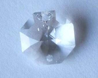 4 SWAROVSKI 8116 Octagon Crystal Beads 14mm CRYSTAL