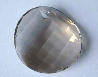 1 Swarovski 6621 TWIST Crystal Pendant Bead 28mm SILVER SHADE