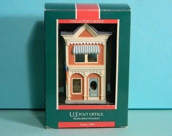 U.S. Post Office 1989 Hallmark Christmas Ornament, Original Box, Collector's Series