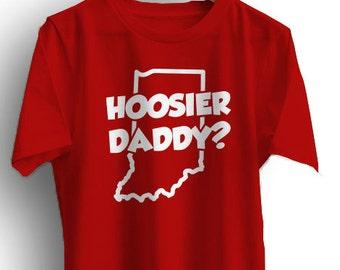 HOOSIER DADDY T-Shirt Indiana Tee Cotton