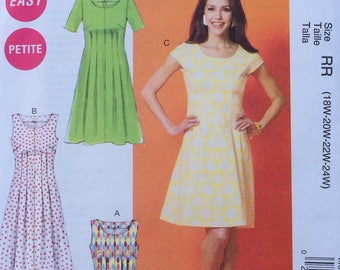 Dress Pattern / Summer Dress Pattern / Womens Dress Pattern / Easy Dress Pattern / Liose Fitting Dress Pattern / McCalls 6958 / UNCUT