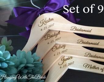 Bridesmaid dress hanger, Wedding dress hanger, Custom Bridal Hangers,Bridesmaids gift, Wedding hangers with names,Custom made hangers