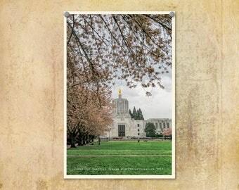Oregon Photography | Salem Oregon | State Capitol Building |  | Architecture Photo | Springtime Cherry Blossoms | Oregon State Capitol