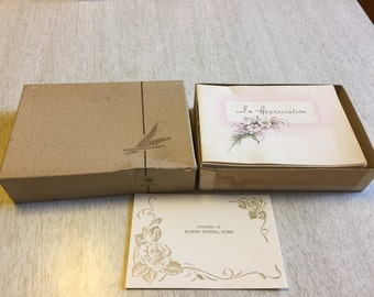 lot of unused vintage funeral thank you in appreciation cards midcentury 25 pcs