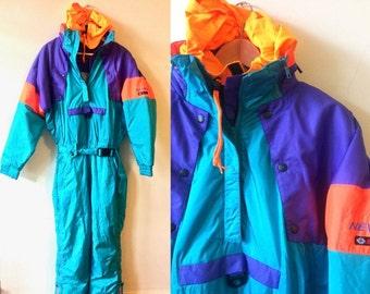 Vintage 80s Nevica apres Ski Suit Medium
