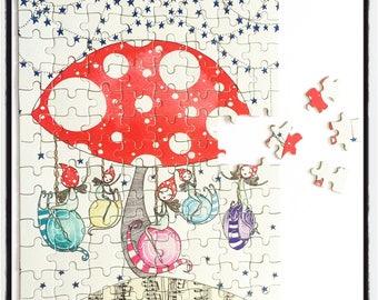 Fairy-Go-Round - A4 Jigsaw