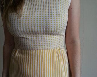 Incredible 60s Yellow day dress, Medium