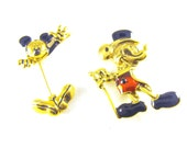 Napier Mickey Mouse Pin Extra Disney Brooch Bonus Authentic Walt Disney Collector Pins LOT
