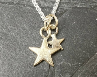 Star - 9ct gold star pendant - minimalist, modern, wedding jewellery, made in uk