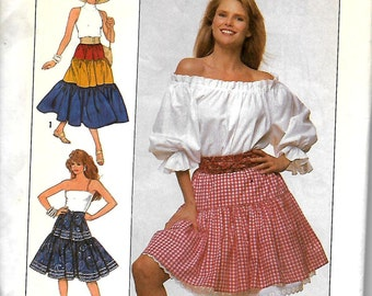 Simplicity 9168 Christie Brinkley Collection Tiered Skirt Pattern, S-XL, UNCUT