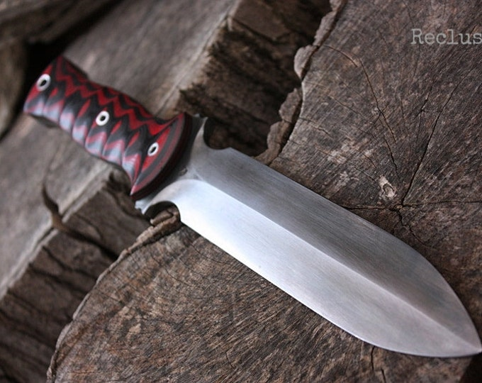 """Handcrafted knife FOF """"Recluse"""" full tang survival blade"""