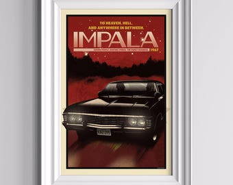 Now Boarding: IMPALA - Supernatural Poster