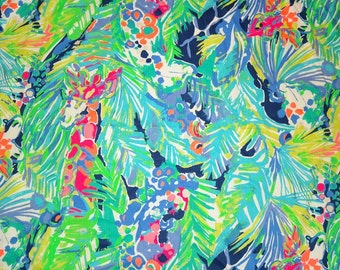 Cotton dobby Purrfect Spring 2017 fabric  18 X 18 inches   ~Lilly Pulitzer~