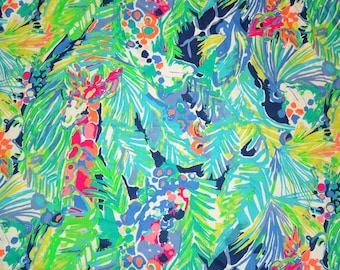 New Spring Cotton dobby Purrfect fabric  9 X 18 inches   ~Lilly Pulitzer~