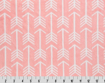 Adult Minky Blanket - Tween Blanket - Coral Arrow - You choose the backside minky