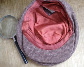 Greenwich Village Hipster Flat Cap with magnifying glass
