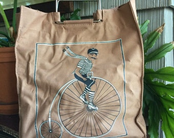 Vintage 1970's bicycle bag canvas