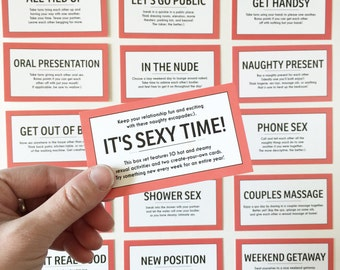 READY TO SHIP / 52 Sex Coupons / Kinky Sex Cards / Sex Cards / 52 Sex Ideas / Anniversary Gift / Valentine's Gift / Naughty Gift