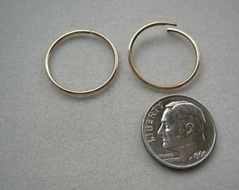 Gold 10ky loop earrings.