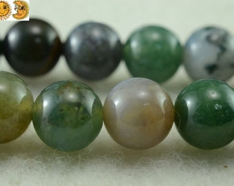 15 inch strand of India Agate smooth round beads 2mm 3mm 4mm 6mm 8mm 10mm 12mm 14mm