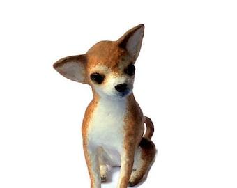 Paper mache Art Sculpture animals Chihuahua puppy