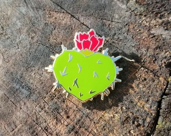 Nopal Sagrado enamel cactus pin hat lapel pin