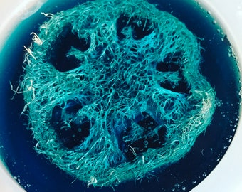 Loofah artisan soap with Relaxinng scent blend.
