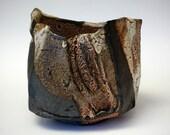 Faceted Shino Tea Bowl