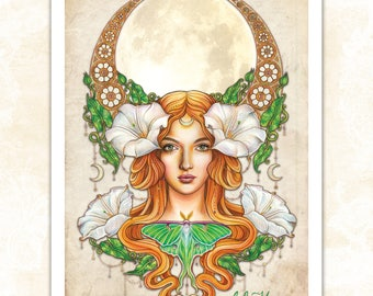 LARGE 'Moonflower' print