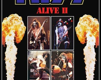 KISS Alive II L.A Forum Stand-Up Display - Rock Collectibles Collection Collector Band Memorabilia Gift Gene Simmons Army Poster Album