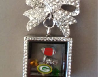 Packers Locket Brooch/Necklace