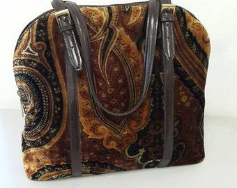 Etro paisley velvet bag very rare