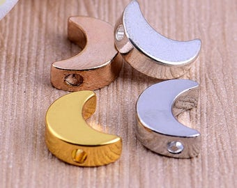 Nickel Free -  High Quality Moon Brass Lovely Charm / Pendant -- PA249