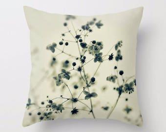 Black & White Floral Print | Throw Pillow Cover | Accent Pillow Cover | Custom Pillow Case | Printed Accent Pillow  | Flower Print Pillow