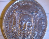 Beautiful Vintage Shroud of Turin/Mother of Sorrows Medal - circa 1950s