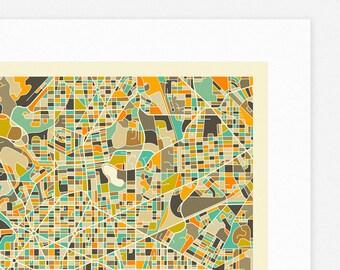 WASHINGTON DC MAP (Giclée Fine Art Print, Photographic Print or Poster Print) by Jazzberry Blue