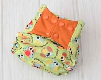 Cloth Diaper Covers - Owls Diaper - Best Cloth Diapers - Diaper Covers for Boys - Waterproof Diaper Covers - 1231